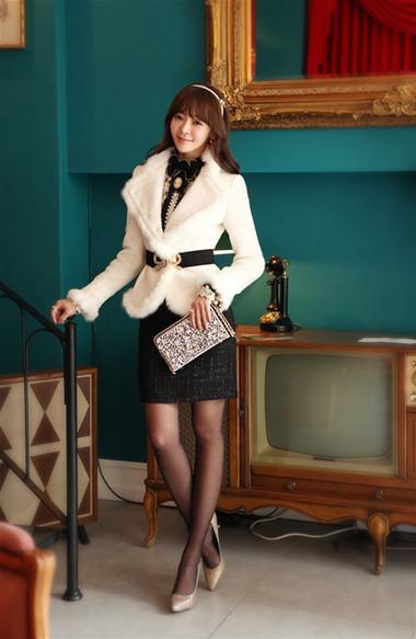Mẫu áo khoác dạ nữ dáng ngắn đẹp và mốt nhất mùa đông 2013 - 2014  6