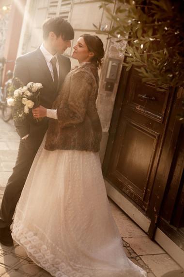 Áo khoác cho cô dâu những ngày rét đậm 8
