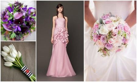 Hoa cưới cầm tay cho váy màu hồng pastel 1