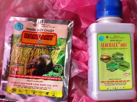 Các sản phẩm thuốc BVTV nông dân Đông Anh được trợ giá