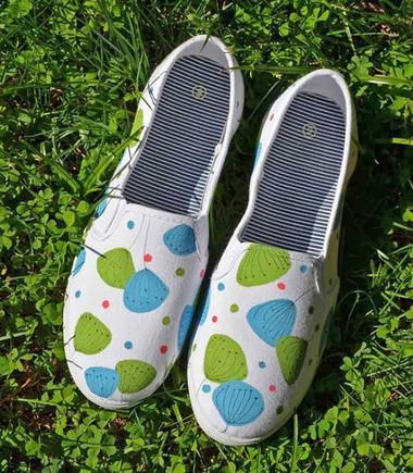 F5 giày vải với họa tiết trang nhã 1