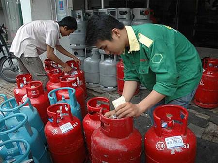 Từ ngày 1/5, giá gas bán lẻ tăng 8.000 đồng/bình loại 12 kg.