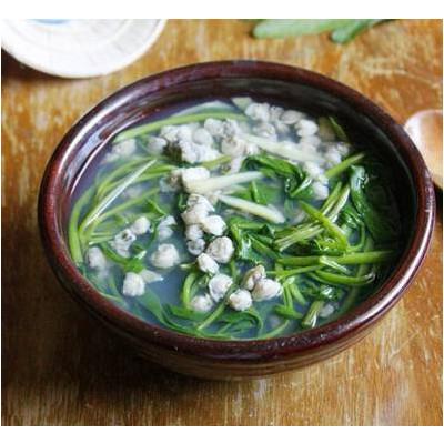 Canh ngao nấu rau muống  cùng me sự kết hợp hảo
