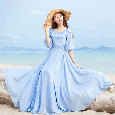 Váy maxi ngọt ngào, quyến rũ trong tiết trời Thu 10