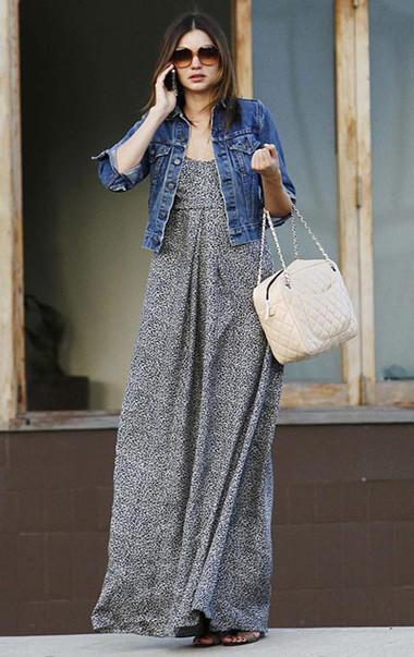 Váy maxi ngọt ngào, quyến rũ trong tiết trời Thu 5