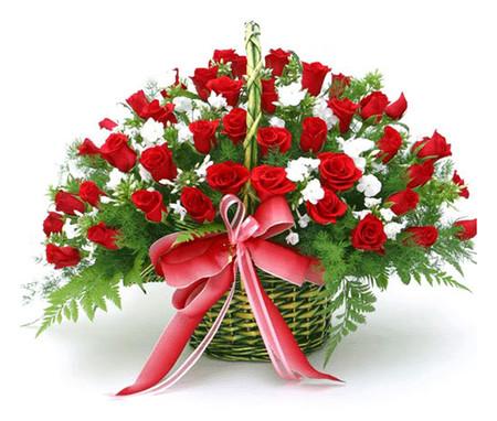Những mẫu lẵng hoa hồng đẹp lung linh tặng nàng nhân ngày 20/10 8