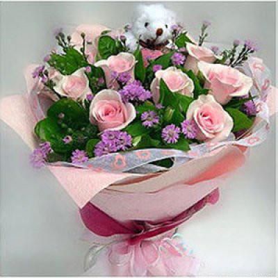 Những mẫu lẵng hoa hồng đẹp lung linh tặng nàng nhân ngày 20/10 18
