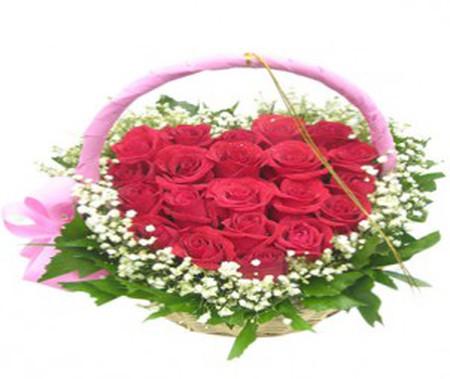 Những mẫu lẵng hoa hồng đẹp lung linh tặng nàng nhân ngày 20/10 12
