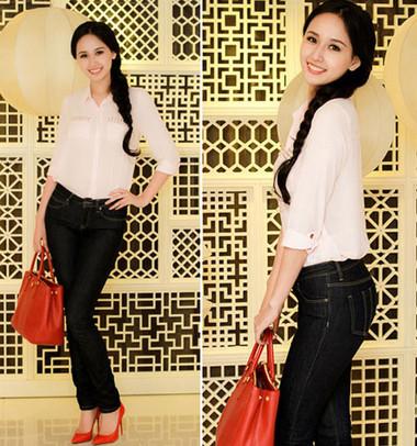 Phong cách thoải mái khi kết hợp với quần jean 2