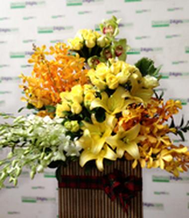 Những mẫu lẵng hoa hồng đẹp lung linh tặng nàng nhân ngày 20/10 3