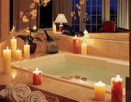 Phòng tắm đêm lãng mạn 6