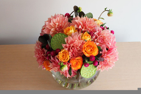 Phòng khách thêm rực rỡ với hoa thược dược - hoa của mùa Đông 2