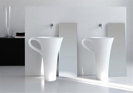 Bồn rửa mặt hình ly cà phê 2