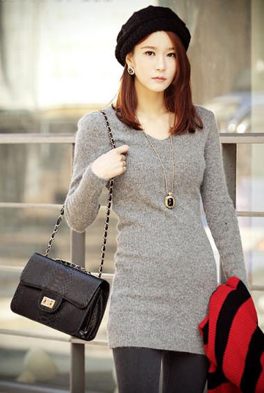 Sành điệu, phong cách với áo len dáng dài 3