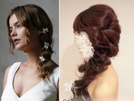 Những kiểu tóc dài cho cô dâu thêm rạng rỡ 7
