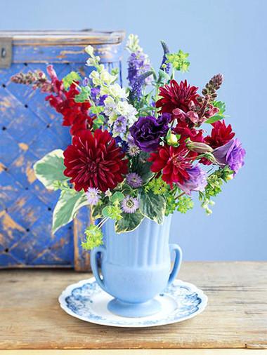 Phòng khách thêm rực rỡ với hoa thược dược - hoa của mùa Đông 6