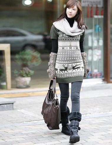 Sành điệu, phong cách với áo len dáng dài 9