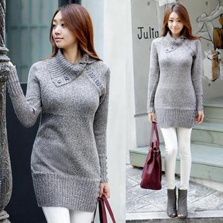 Sành điệu, phong cách với áo len dáng dài 11