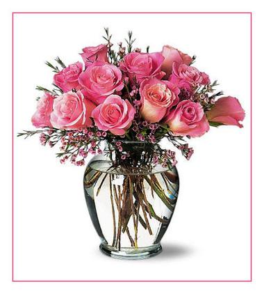 Ngọt ngào với bình hoa màu hồng. 1