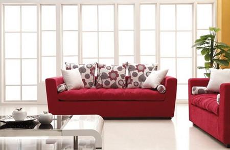 Phòng khách mùa đông ấm áp với gam màu đỏ 9