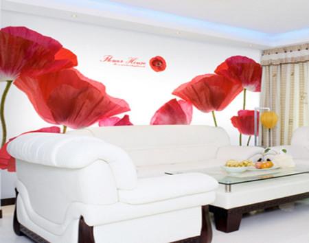 Phòng khách mùa đông ấm áp với gam màu đỏ 10