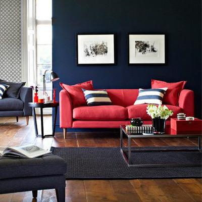 Phòng khách mùa đông ấm áp với gam màu đỏ 12