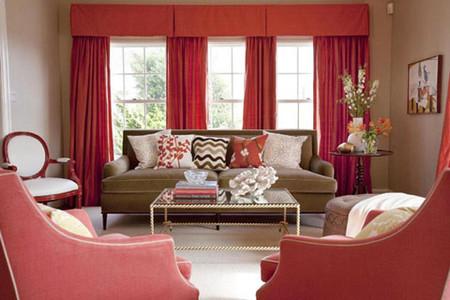 Phòng khách mùa đông ấm áp với gam màu đỏ 6