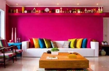 Phòng khách mùa đông ấm áp với gam màu đỏ 7